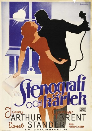 More Than a Secretary - Swedish Movie Poster (thumbnail)