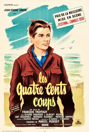 Les quatre cents coups - French Movie Poster (thumbnail)