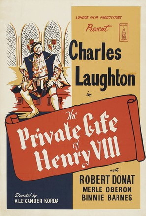 The Private Life of Henry VIII. - British Re-release poster (thumbnail)