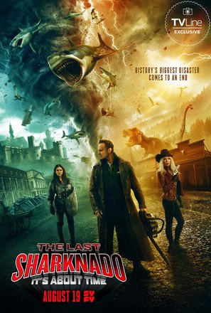 The Last Sharknado: It's About Time - Movie Poster (thumbnail)