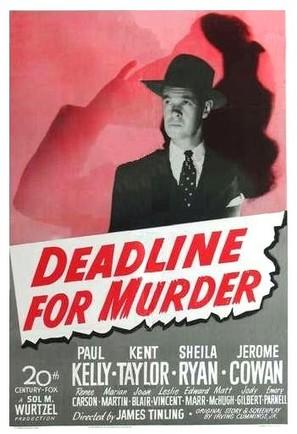 Deadline for Murder - Movie Poster (thumbnail)