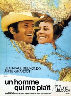 Un homme qui me plaît - French Movie Poster (thumbnail)