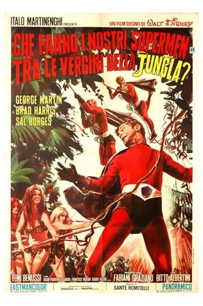 Che fanno i nostri supermen tra le vergini della giungla? - Italian Movie Poster (thumbnail)