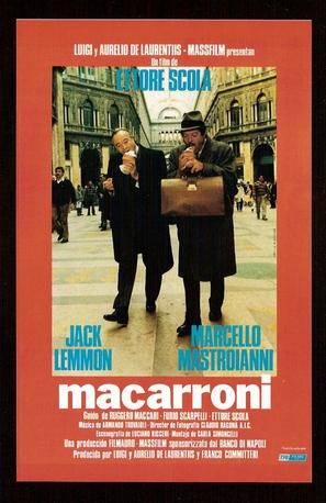 Maccheroni - Spanish Movie Poster (thumbnail)