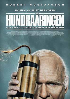 Hundraåringen som klev ut genom fönstret och försvann - Swedish Movie Poster (thumbnail)