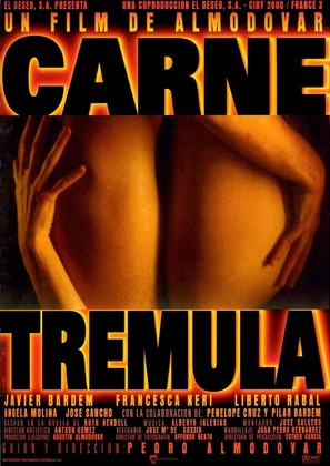 Carne trémula - Spanish Movie Poster (thumbnail)