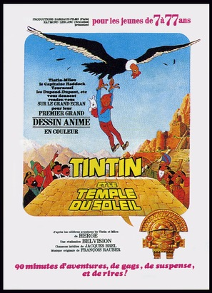 Tintin et le temple du soleil - French Movie Poster (thumbnail)