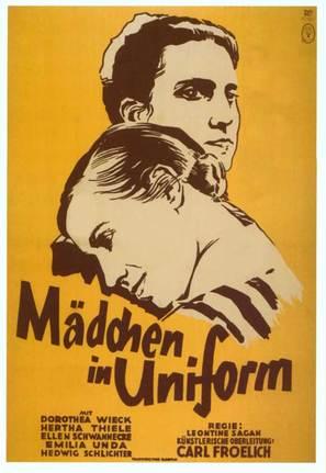 Mädchen in Uniform - German Movie Poster (thumbnail)