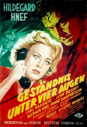 Geständnis unter vier Augen - German Movie Poster (thumbnail)