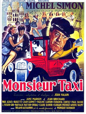 Monsieur Taxi - French Movie Poster (thumbnail)