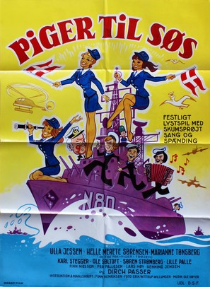 Piger til søs - Danish Movie Poster (thumbnail)