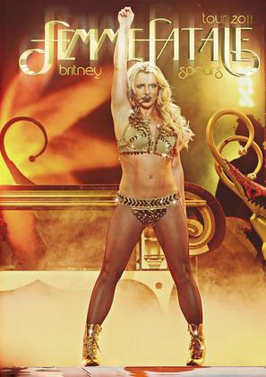 Britney Spears: I Am the Femme Fatale - Brazilian DVD cover (thumbnail)
