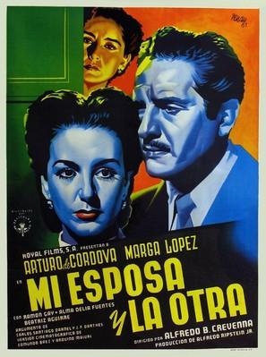 Mi esposa y la otra - Mexican Movie Poster (thumbnail)