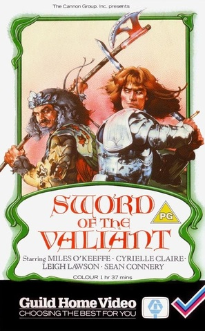 Sword of the Valiant: The Legend of Sir Gawain and the Green Knight - British VHS movie cover (thumbnail)
