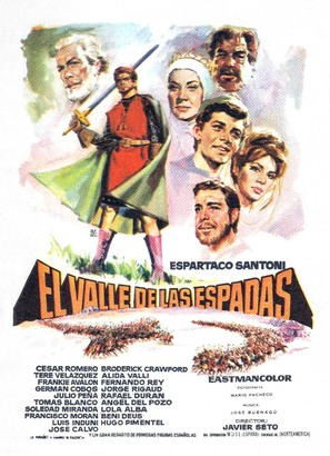 El valle de las espadas - Spanish Movie Poster (thumbnail)