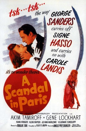 A Scandal in Paris - Movie Poster (thumbnail)