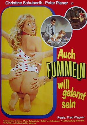Auch Fummeln will gelernt sein - German Movie Poster (thumbnail)