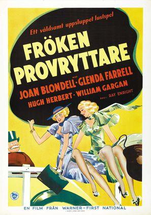 Traveling Saleslady - Swedish Movie Poster (thumbnail)