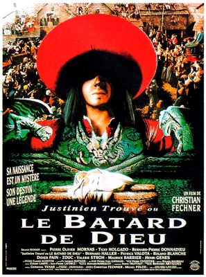 Justinien Trouvé, ou le bâtard de Dieu - French Movie Poster (thumbnail)