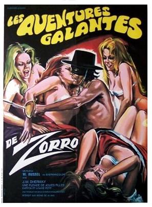 Les aventures galantes de Zorro - French Movie Poster (thumbnail)