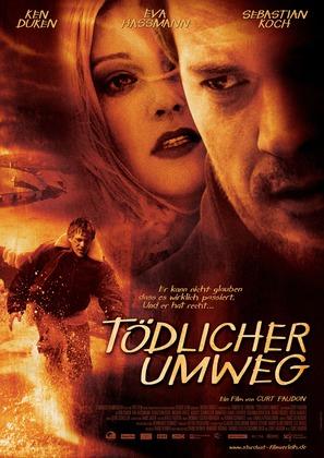 Tödlicher Umweg - German Movie Poster (thumbnail)