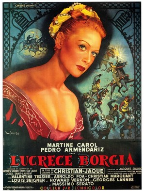 Lucrèce Borgia - French Movie Poster (thumbnail)