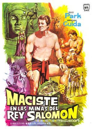 Maciste nelle miniere di re Salomone - Spanish Movie Poster (thumbnail)