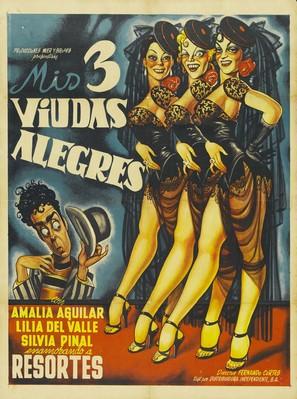 Mis tres viudas alegres - Mexican Movie Poster (thumbnail)