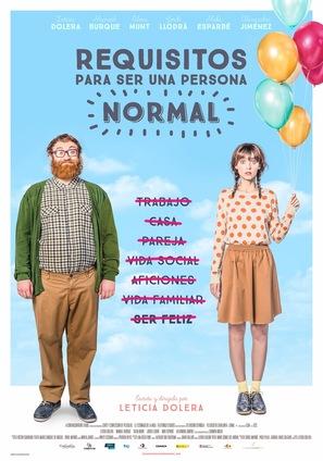 Requisitos para ser una persona normal - Spanish Movie Poster (thumbnail)