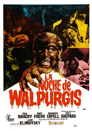 La noche de Walpurgis - Spanish Movie Poster (thumbnail)