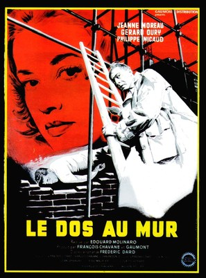 Le dos au mur - French Movie Poster (thumbnail)