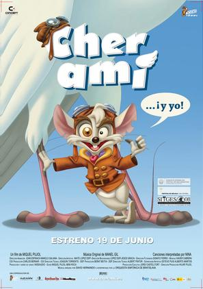 Cher Ami... ¡y yo! - Spanish Movie Poster (thumbnail)