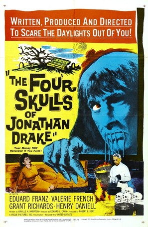 The Four Skulls of Jonathan Drake - Movie Poster (thumbnail)