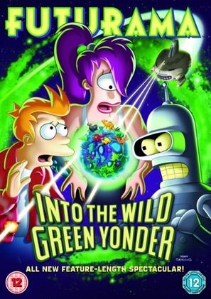 Futurama: Into the Wild Green Yonder - British DVD cover (thumbnail)