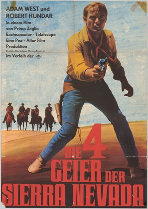 I quattro inesorabili - German Movie Poster (thumbnail)