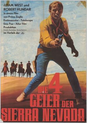 I quattro inesorabili - German Movie Poster (thumbnail)