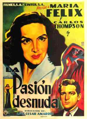 Pasión desnuda, La - Mexican Movie Poster (thumbnail)