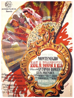 Lola Montes - Spanish Movie Poster (thumbnail)