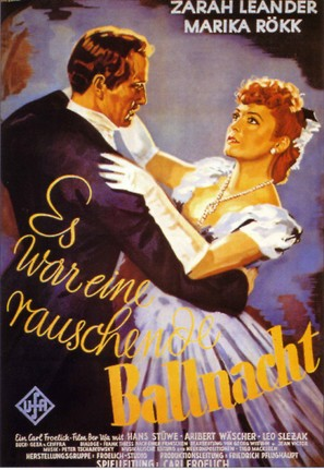 Es war eine rauschende Ballnacht - German Movie Poster (thumbnail)