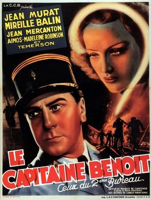 Le Capitaine Benoît - Belgian Movie Poster (thumbnail)