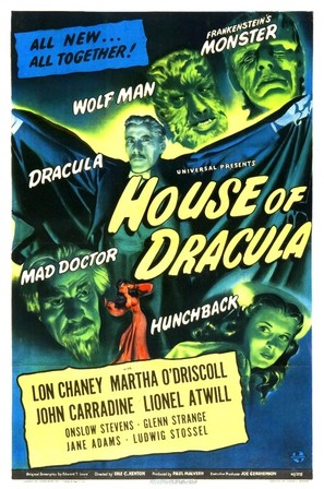 House of Dracula - Theatrical poster (thumbnail)