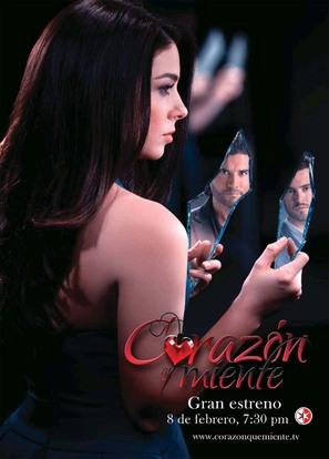 """""""Corazón que miente"""" - Mexican Movie Poster (thumbnail)"""