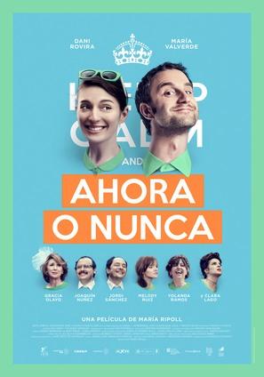 Ahora o nunca - Spanish Movie Poster (thumbnail)