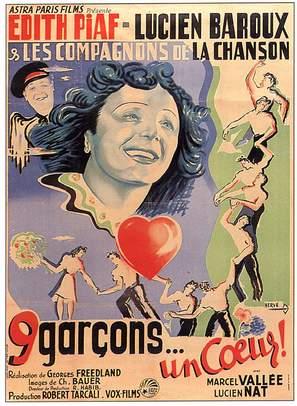 Neuf garçons, un coeur - French Movie Poster (thumbnail)
