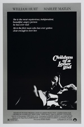 Children of a Lesser God - Theatrical movie poster (thumbnail)