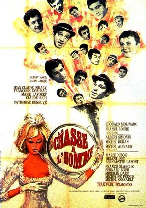La chasse à l'homme - French Movie Poster (thumbnail)