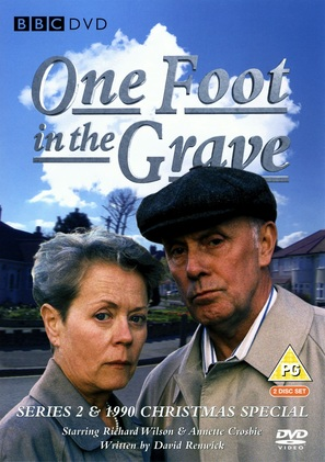 """""""One Foot in the Grave"""" - British DVD movie cover (thumbnail)"""