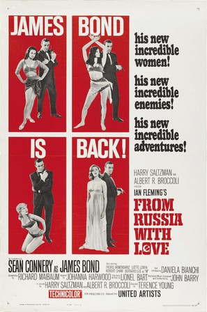 From Russia with Love - Theatrical movie poster (thumbnail)
