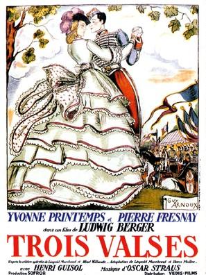 Les trois valses - French Movie Poster (thumbnail)