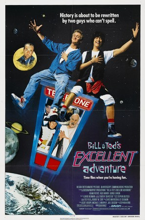 Bill & Ted's Excellent Adventure - Movie Poster (thumbnail)